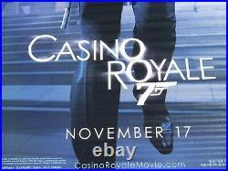007 CASINO ROYALE 2006 Original DS 5X8' US Movie Theater Lobby Banner James Bond
