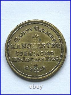 1926 Charlie Chaplin Silent Movie Theater Token Gold Rush Coin SCARCE
