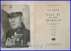 1926 TELL IT TO THE MARINES pressbook withpremiere theater item Lon Chaney