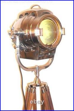 1930's Vintage Hollywood Film Studio Spot Light Movie Theatre Antique Floor Lamp