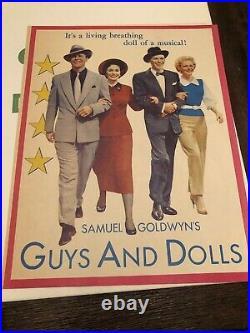 1955 GUYS AND DOLLS Original Promotional Movie Theater Press Book Frank Sinatra