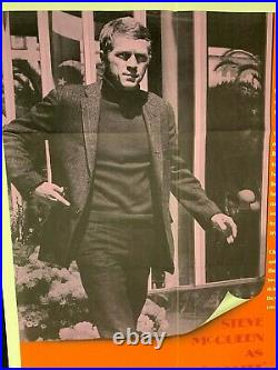 1969 Bullitt Steve McQueen Theater poster 27 x 41 Matte finish one sheet Mustang