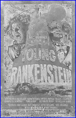 1974 Young Frankenstein Sutton Theater NYC Premiere Movie Poster Printing Plate