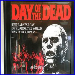 1985 Day of the Dead Framed Original Movie Theater Poster VTG 90's Zombie