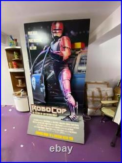 1987 ORIGINAL ROBOCOP MOVIE THEATER STAND UP STANDEE POSTER DISPLAY with light