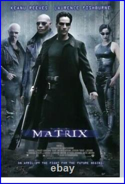 1999 The Matrix Movie Theater Mural Poster HUGE! 40 X 55