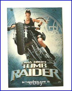 2001 Tomb Raider Movie Theater Standee-Lara Croft On Motorcycle-Angelina Jolie