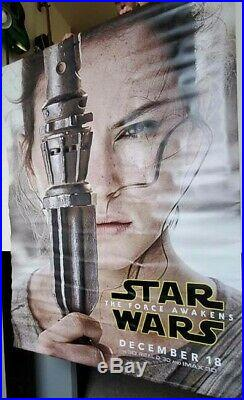 3 Large Star Wars The Force Awakens Theater Large Banners Han Solo Rey Kylo Ren