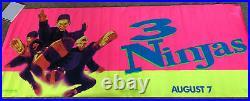 3 NINJAS Original Theater Banner (120 X 46.5) 1992