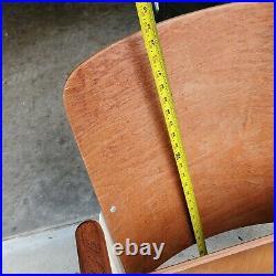 4 sec. Vintage wood folding chairs movie theater seats auditorium bench hallway