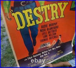 40 x 60 DESTRY 1950s ORIGINAL MOVIE THEATRE POSTER (P1)