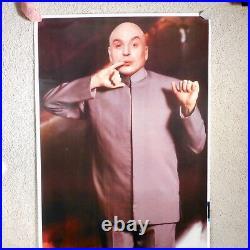6FT Dr. Evil Austin Powers Original Movie Poster VTG Theater Lobby Mike Myers