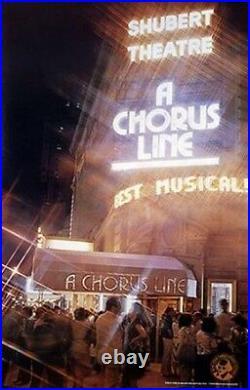 A Chorus Line Original 84 X 42 Rolled 1978 Broadway Theatre Poster