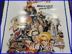 AMERICAN GRAFFITI 1973 folded one-sheet Universal release theatre poster