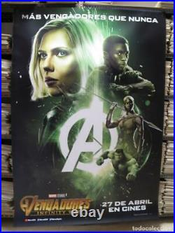AVENGERS INFINITY WAR 79 x 55 Giant Movie Theater Vinyl Banner Black Widow