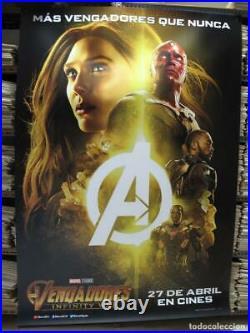 AVENGERS INFINITY WAR 79 x 55 Giant Movie Theater Vinyl Banner Scarlett Witch
