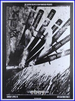Akira Kurosawa Seven Samurai Silkscreen Movie Poster Castro Theatre O'Daniel