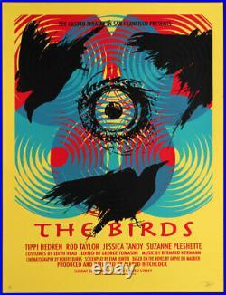 Alfred Hitchcock Birds Castro Theatre Silkscreen Movie Poster David O'Daniel'10