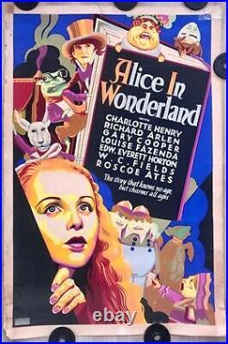Alice in Wonderland 1933 40x60 original vintage Golden Age movie theatre poster
