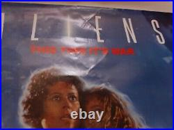 Aliens Movie Theater Poster 1986 Original Rolled 27x41 Light Damage