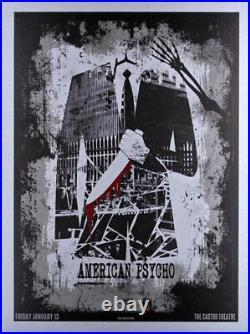 American Psycho Silkscreen Movie Poster Castro Theatre David O'Daniel