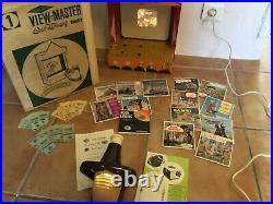 #Ancien théâtre Walt disney view Master avec sa boîte d'origine, notice, film