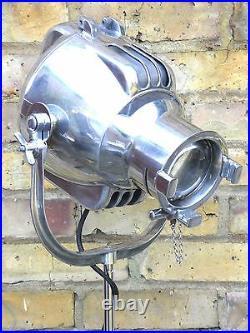 Antique Theatre Light Floor Lamp Industrial Art Deco Silver Film Strand 23 Retro