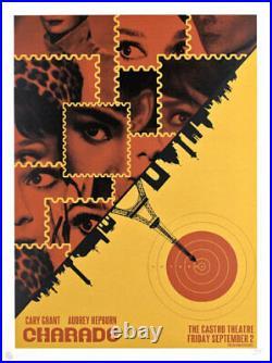Audrey Hepburn Charade Castro Theatre Silkscreen Movie Poster David O'Daniel