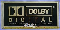 Authentic Dolby Digital Sound System Movie Theater Sign Rare