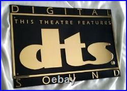 Authentic Dts Digital Sound Movie Theater Sign Rare Brand New