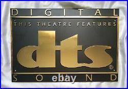Authentic Dts Digital Sound Movie Theatre Sign Rare