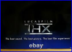 Authentic Lucasfilm Ltd. Thx Movie Theater D/s 1sh Movie Theater Poster