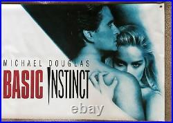 BASIC INSTINCT, GIANT Vinyl Movie Banner (1992), Rolled, 35 x 72 (3 x 6), NM