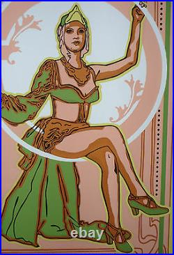 BEAUTY OF ALHAMBRA / Hand-Signed CUBAN Silkscreen Movie Poster CUBA ART by PONCE