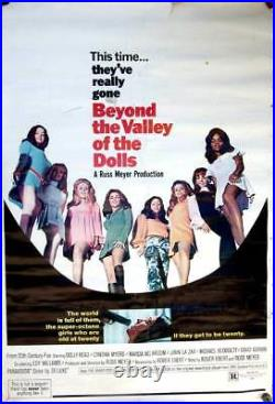 BEYOND The VALLEY of the DOLLS -1970 MOVIE / THEATER POSTER / SIGN Russ Meyer