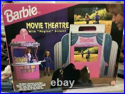 Barbie Movie Theater withMagical Screen & Snack Bar Mattel 95 NEW Complete