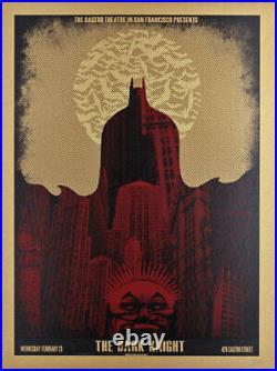 Batman The Dark Knight Castro Theatre Silkscreen Movie Poster David O'Daniel