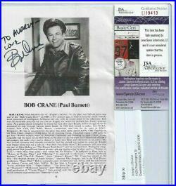 Bob Crane Autographed Theater Program Page JSA Hollywood TV Actor Hogans Heros