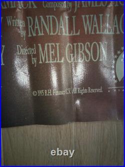 Braveheart Mel Gibson Vinyl Theatre Banner Original 1995