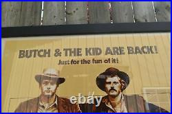 Butch Cassidy And The Sundance Kid Original Movie Theatre Poster Film Framed Old