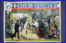 Child Of The Regiment (1910) 28 x 38 US Theater Advertising Poster LB