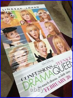 Confessions of a teenage drama queen movie Theater banner 71 X 48 RARE LOHAN