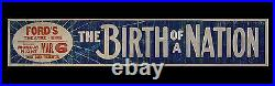 D. W. GRIFFITH'S THE BIRTH OF A NATION 1916 ORIGINAL Movie Poster THEATER BANNER