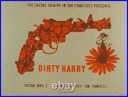 Dirty Harry Clint Eastwood Castro Theatre Silkscreen Movie Poster David O'Daniel