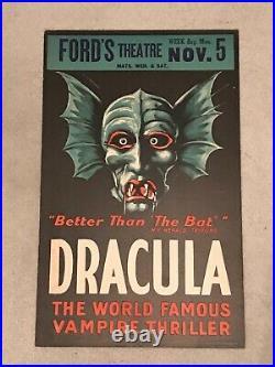 Dracula Original 1928 Theater Play Poster Bela Lugosi