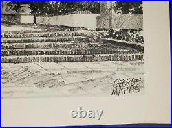 East Sacramento Alhambra Movie Theatre By George Mathis 1950s Rare Print #2