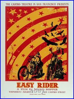 Easy Rider Castro Theatre Silkscreen Movie Poster David O'Daniel Alien Corset