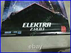 Elektra Original Movie Theater 8' Vinyl Marvel Banner Jennifer Garner Daredevil
