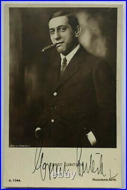 Ernst Lubitsch Theater / Film original Autogramm Größe 14 x 10 cm