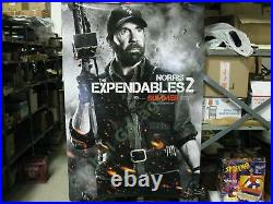 Expendables 2 Chuck Norris Booker Original Movie Theater Lobby Display Poster